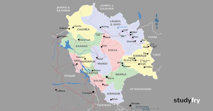 50 हिमाचल प्रदेश GK (महत्वपूर्ण प्रश्न)