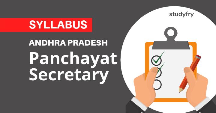AP Panchayat Secretary Syllabus 2019
