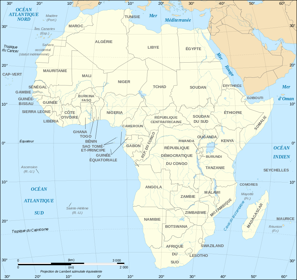 Africa map political