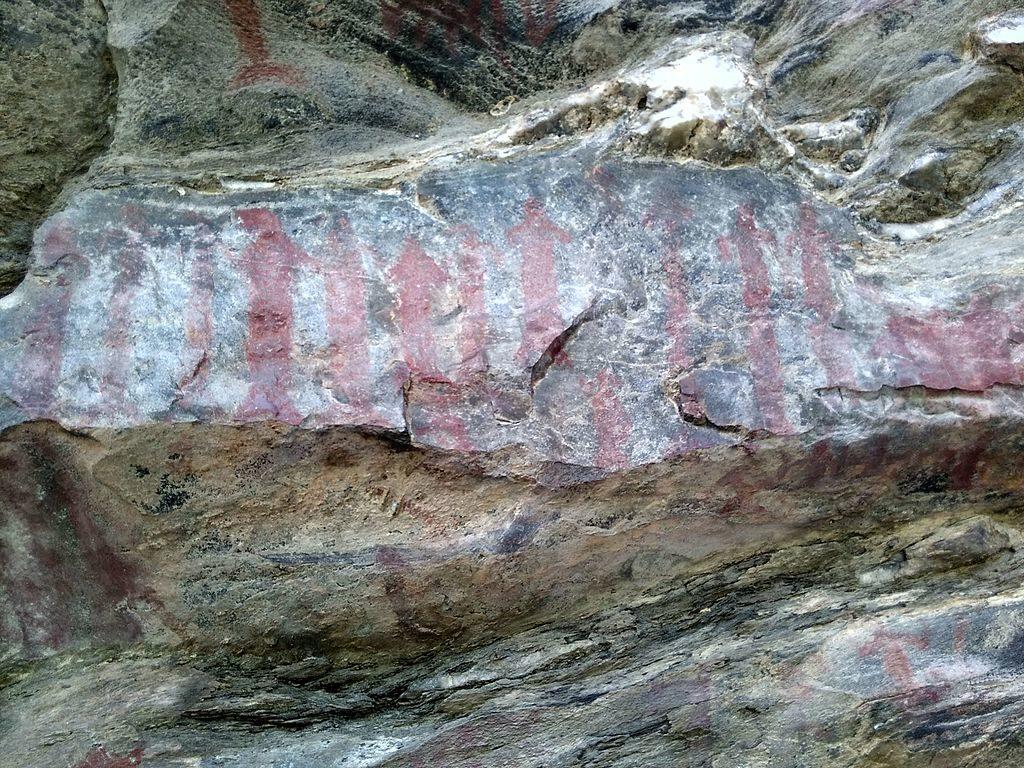 Ancient Cave Paintings at Lakhudiyar, Almora District, Uttarakhand