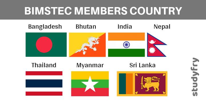 BIMSTEC के सदस्य देश