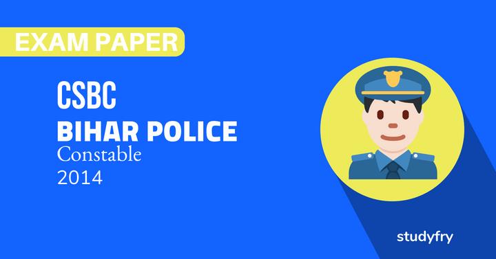 Bihar police solved exam paper 2014