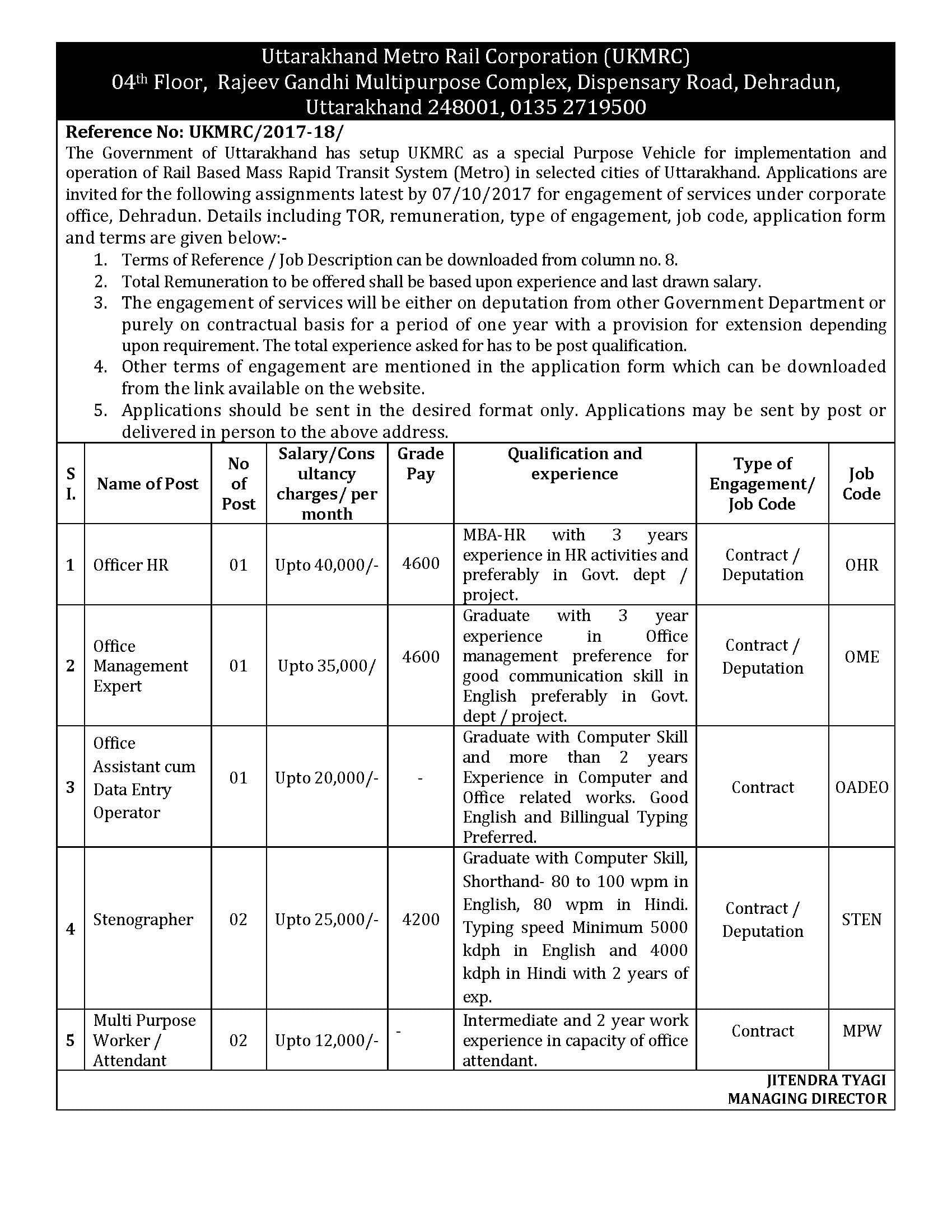 UKMRC Recruitment