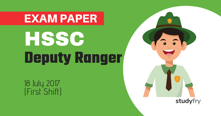 HSSC Deputy Ranger Solved Exam Paper - 2017 (First Shift)