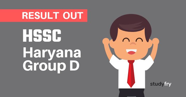 HSSC Group D Result - Haryana