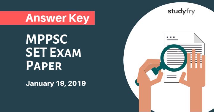 MPPSC SET Exam Paper 19 January 2019 Answer Key