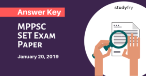 MPPSC SET Exam Paper 20 January 2019 Answer Key