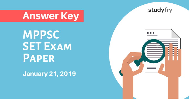 MPPSC SET Exam Paper 21 January 2019 Answer Key