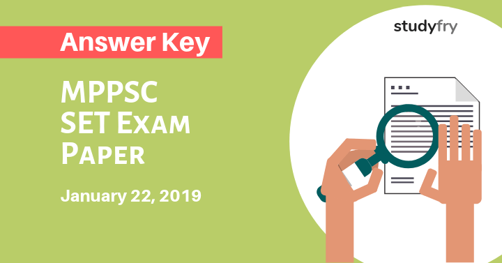 MPPSC SET Exam Paper 22 January 2019 Answer Key