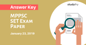 MPPSC SET Exam Paper 23 January 2019 Answer Key