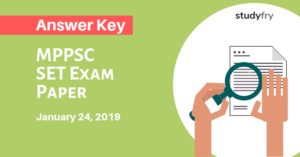 MPPSC SET Exam Paper 24 January 2019 Answer Key