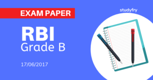 RBI Grade B Officer exam paper 2017