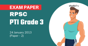 RPSC PTI Grade 3 exam paper - 2011 (Paper 2)
