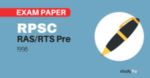 RPSC RAS/RTS preliminary exam paper-1- 1998