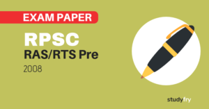 RPSC RAS/RTS preliminary exam paper-1 2008