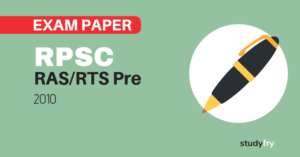 RPSC RAS/RTS preliminary exam paper-1 2010