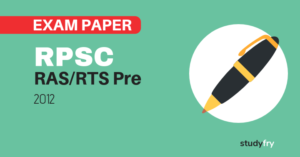 RPSC RAS/RTS preliminary exam paper-1 2012