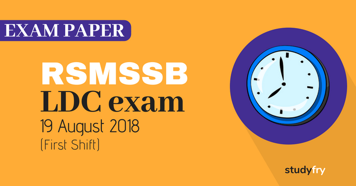 RSMSSB LDC exam paper H to M - 2018 (Answer Key) First Shift