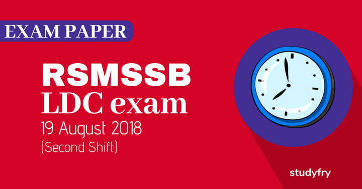 RSMSSB LDC exam paper H to M - 2018 (Answer Key) Second Shift