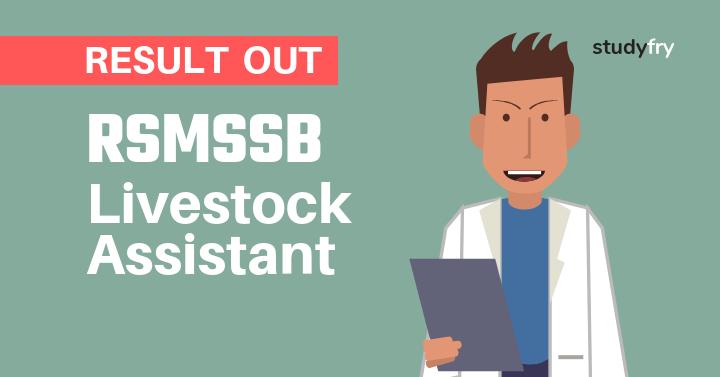 RSMSSB Livestock Assistant Result 2018-2019