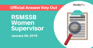 RSMSSB Women Supervisor Official Answer Key Out