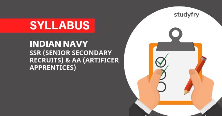 SSR Syllabus, AA Syllabus & Exam Pattern 2019 - Indian Navy