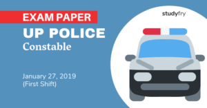 UP Police Constable 27 January 2019 exam paper (Shift 1)