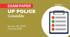 UP Police Constable 28 January 2019 exam paper (Shift 2)