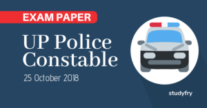 UP Police Constable exam paper 2018 (Answer key)