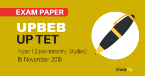 UPTET Exam Paper 18 November 2018 - Environmental Studies Part (Answer Key)
