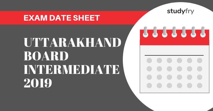 Uttarakhand Board Examination Scheme Intermediate 2019