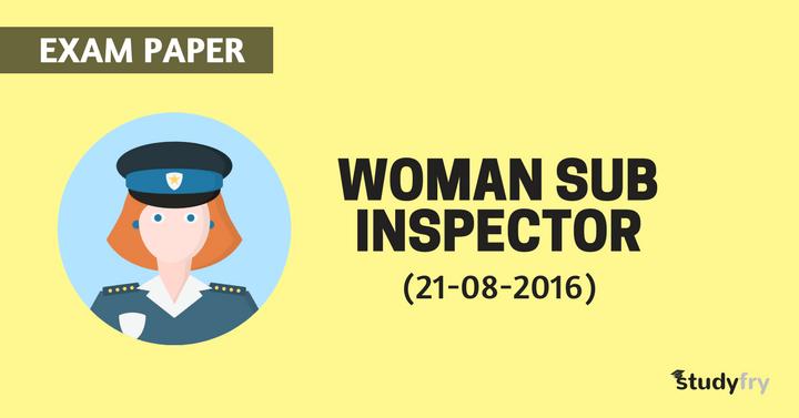 WOMAN SUB INSPECTOR 2016
