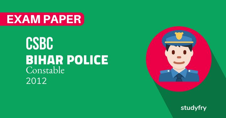bihar police solved exam paper 2012