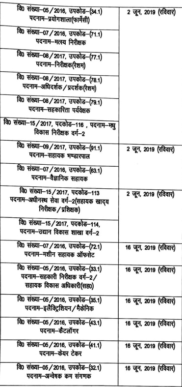 UKSSSC Group C New Exam Dates 24 April 2019 (Final Exam Calendar) 2